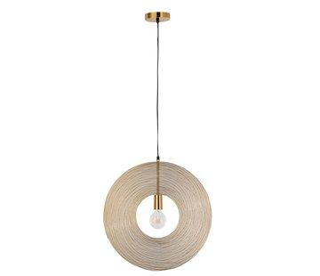 J -Line Hanging Lamp Modern Metal Circle Gold - Small