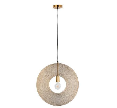 J-Line  Hanging Lamp Modern Metal Circle Gold - Small