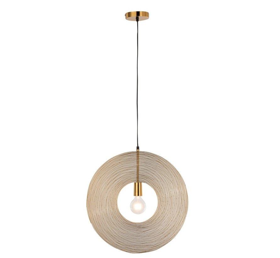 Hanging Lamp Modern Metal Circle Gold - Small
