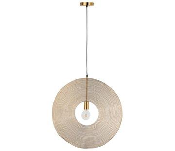 J-Line  Hanging lamp Modern Metal Circle Gold - Large