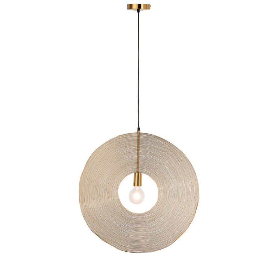 Hanging lamp Modern Metal Circle Gold - Large