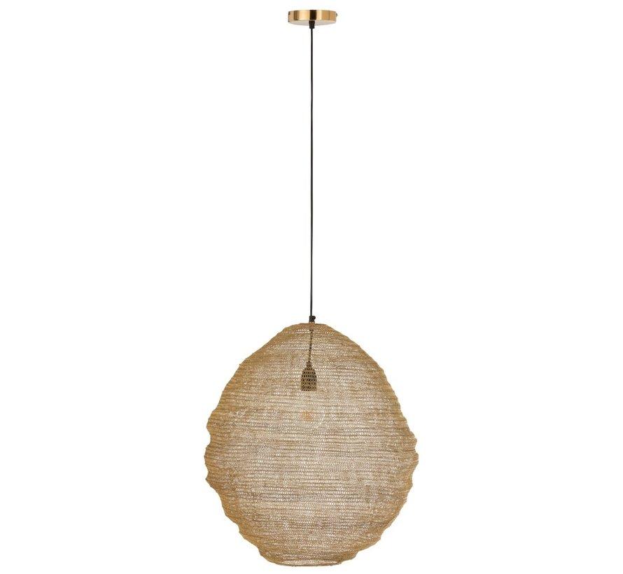 Hanging lamp Cocoon Woven Metal Mesh - Gold