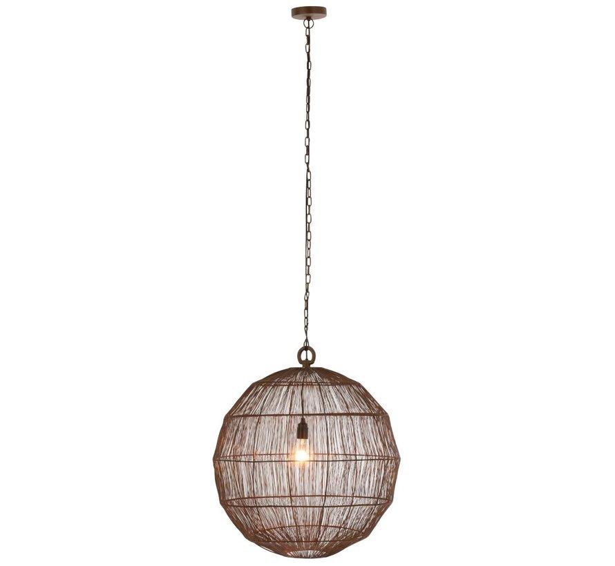 Hanglamp Bol Geweven Metaalgaas Roest - Large