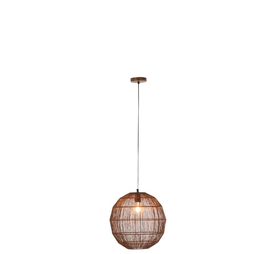 Hanglamp Bol Geweven Metaalgaas Roest - Small