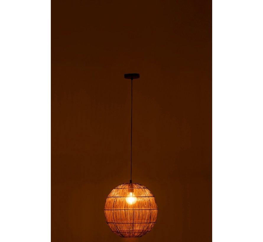 Hanging Lamp Sphere Woven Metal Mesh Rust - Small