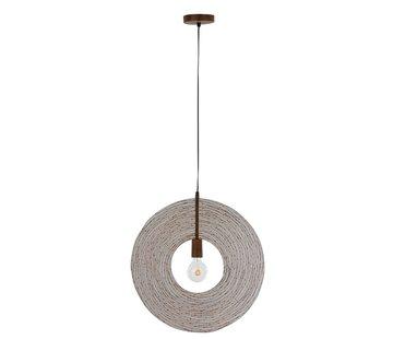 J -Line Hanging lamp Modern Metal Circle Rust - Small