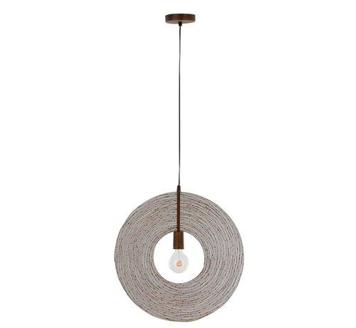 J -Line Hanglamp Modern Metalen Cirkel Roest - Small