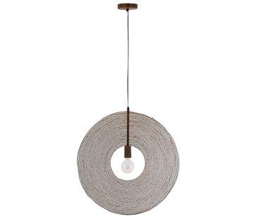 J -Line Hanging lamp Modern Metal Circle Rust - Large