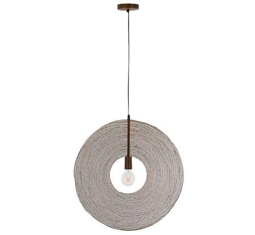 J -Line Hanglamp Modern Metalen Cirkel Roest - Large