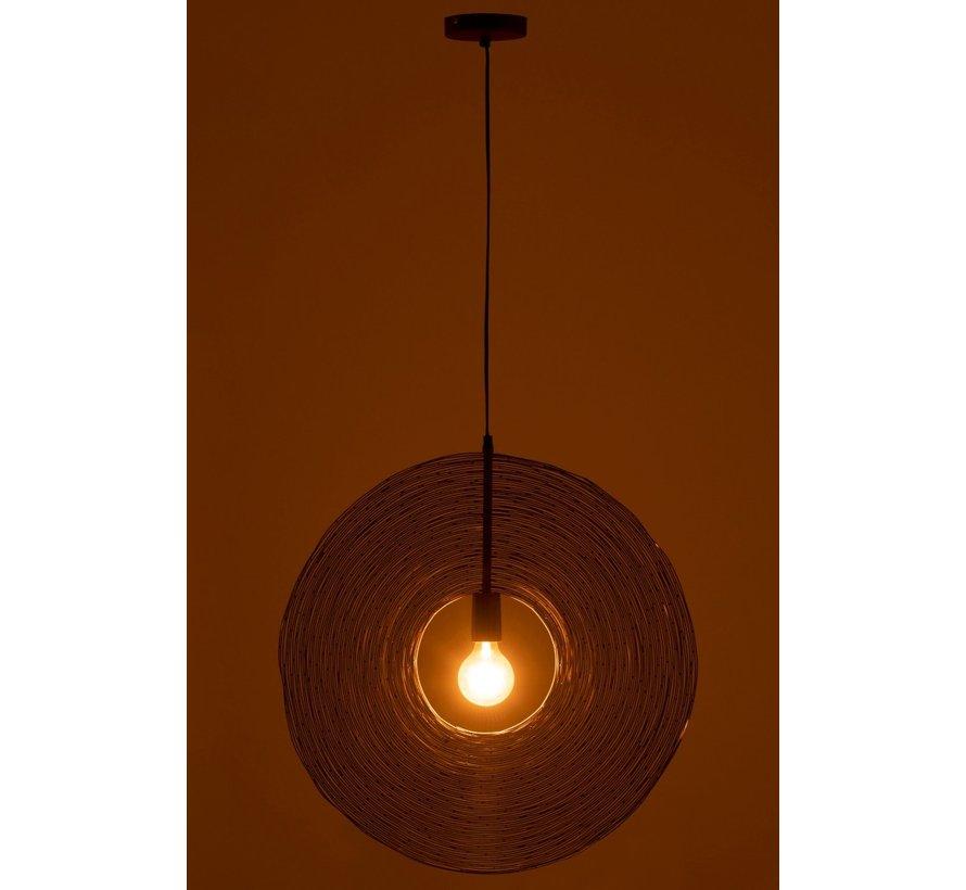 Hanging lamp Modern Metal Circle Rust - Large