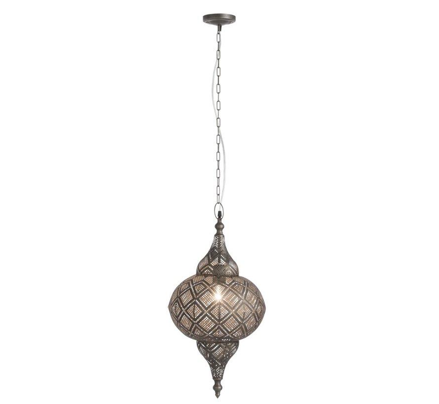Hanglamp Oosterse Patronen Gaatjes Metaal Zwart  - Small