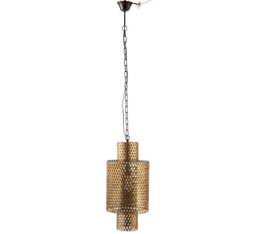 Hanglamp Lang Gevlochten Zink Antiek - Goud