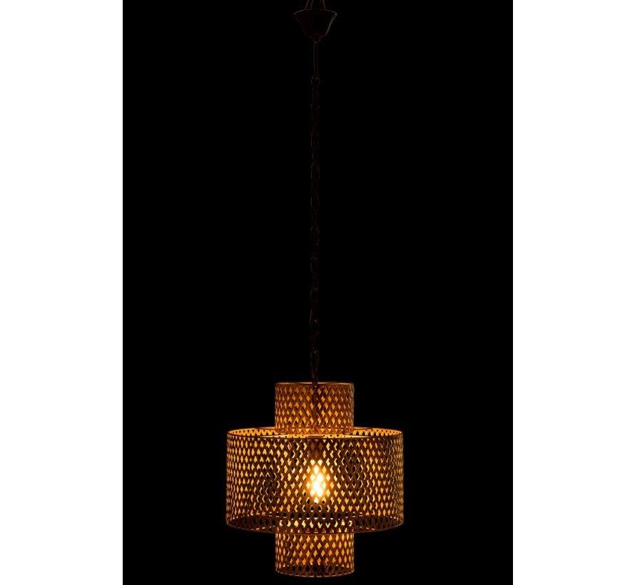 Hanglamp Breed Gevlochten Zink Antiek - Goud