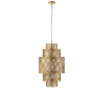 J -Line Hanglamp Metaal Vijf Niveau's Goud - Large
