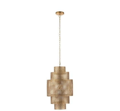J -Line Hanging Lamp Metal Five Levels Gold - Small