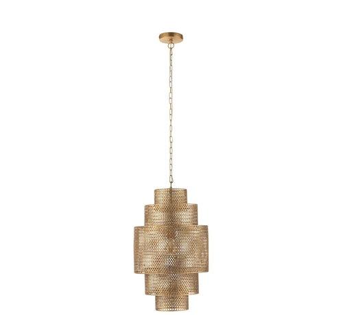 J -Line Hanglamp Metaal Vijf Niveau's Goud - Small