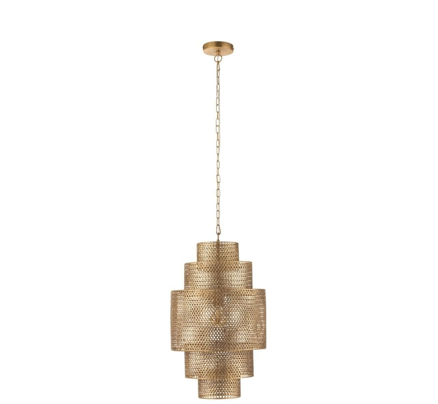 Hanging Lamp Metal Five Levels Gold - Small