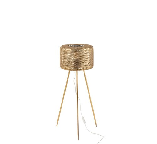 J -Line Floor Lamp Round On Legs Metal Gold - Small