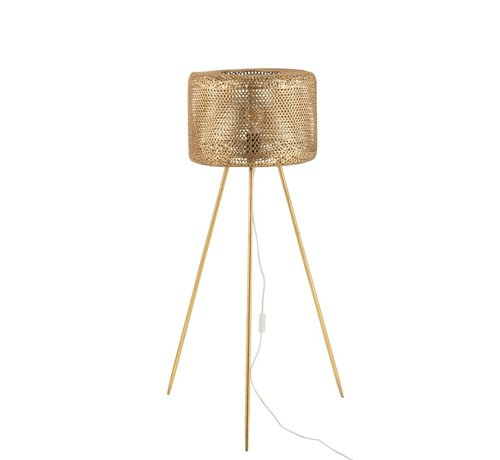 J -Line Floor Lamp Round On Legs Metal Gold - Large