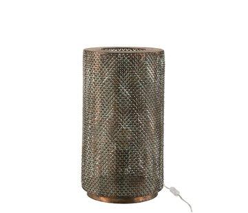 J -Line Table lamp Cylinder High Metal Hooks - Black