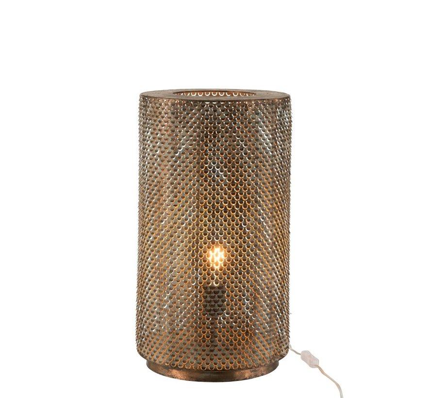 Tafellamp Cilinder Hoog Metaal Haakjes - Zwart