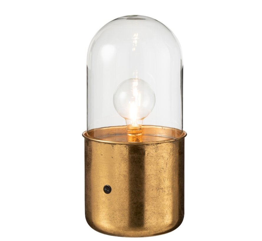Table Lamp Glass Led Lighting Antique Gold - Large