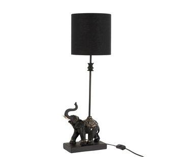 J -Line Tafellamp Decoratief Olifant Op Voet Poly - Zwart