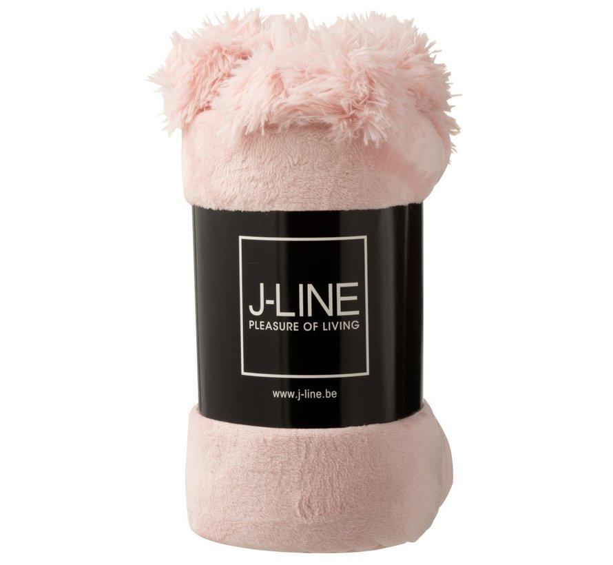 Plaid Extra Soft Pompom Polyester - Soft Pink