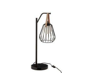 J -Line Table Lamp Industrial Modern Marble Base - Black