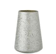J-Line  Tealight holder Glass Mosaic White Silver - Large
