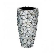 Pot & Vaas Schelpenvaas Cilinder Parelmoer Zilver - Small