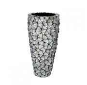 Pot & Vaas Schelpenvaas Cilinder Parelmoer Zilver - Large