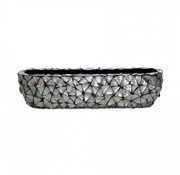 Pot & Vaas Shells Flower Pot Oval Mother of Pearl Silver - Large
