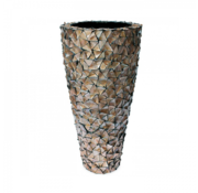 Pot & Vaas Shell Vase Cylinder Mother of Pearl Brown - Extra Large