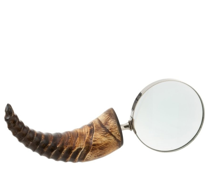 Decoration Magnifying Glass Wide Horn Glass Black / Brown