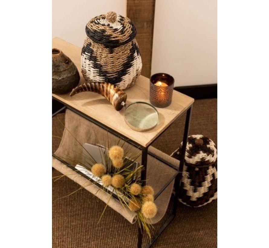 Decoratie Vergrootglas Breed Hoorn Glas Zwart / Bruin