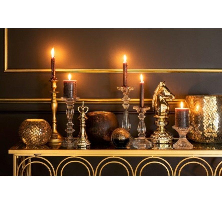 Candlestick Classic Aluminum Matt Gold - Medium