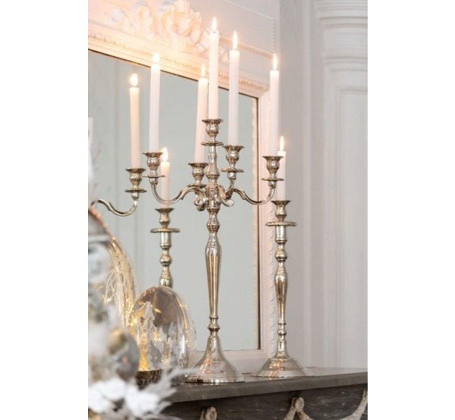 Candlestick Classic Aluminum Silver - Medium
