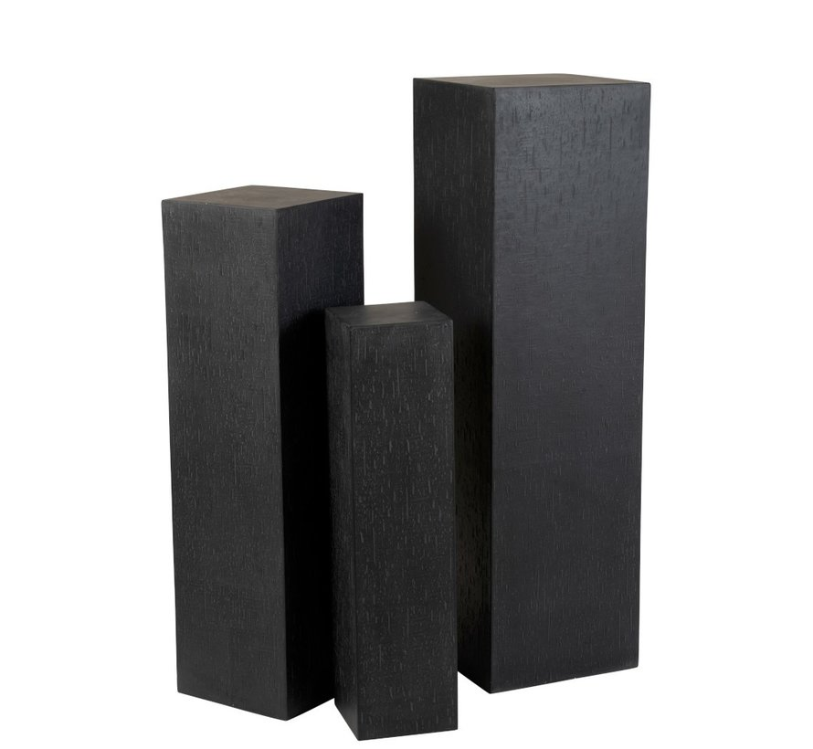Decoration Column High Ceramic Pottery Black - Small