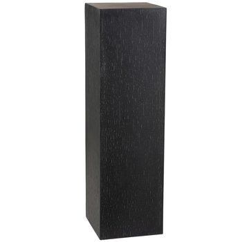 J -Line Decoration Column High Ceramic Pottery Black - Large