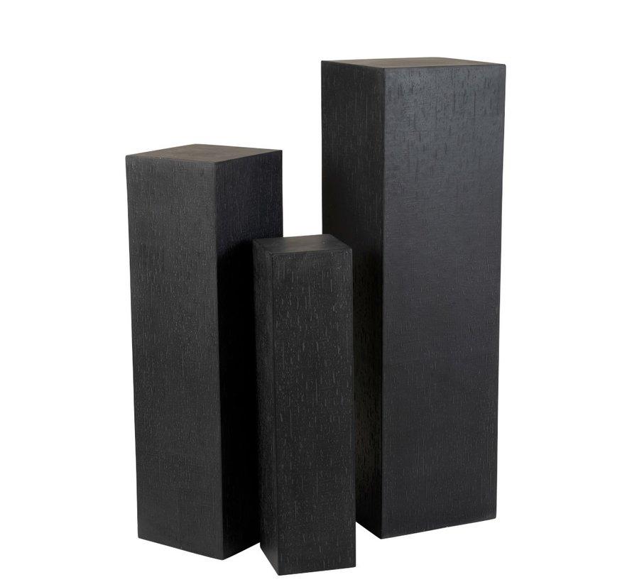 Decoration Column High Ceramic Pottery Black - Large