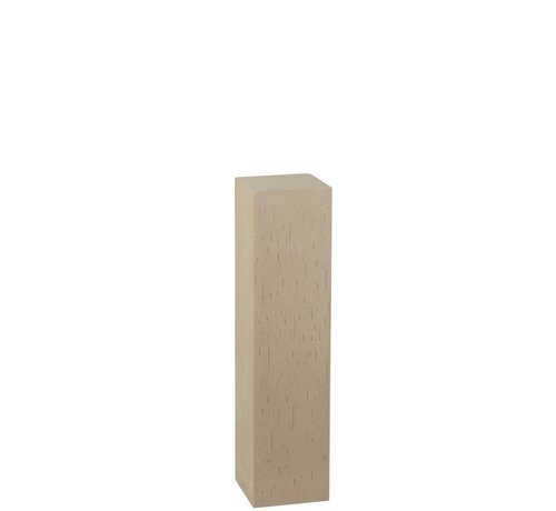 J -Line Decoration Column High Ceramic Earthenware Beige - Small