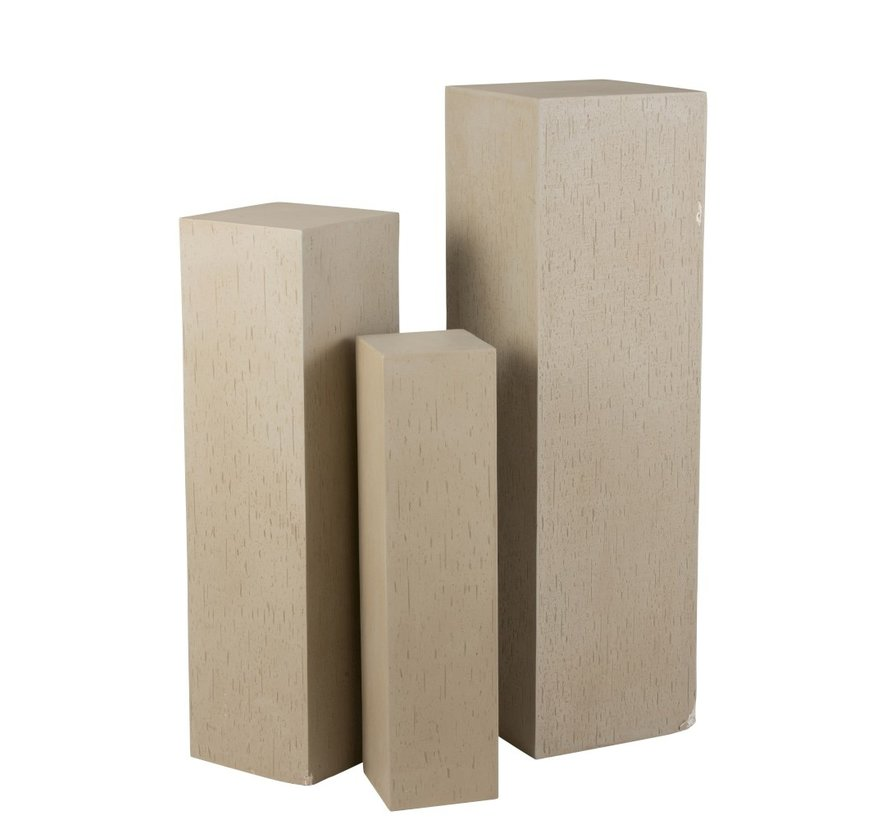 Decoration Column High Ceramic Earthenware Beige - Small