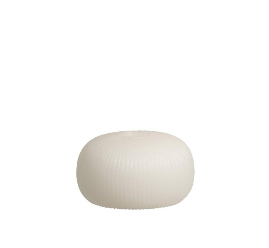 Table lamp Led Ribbed Ceramic Flat White - Small