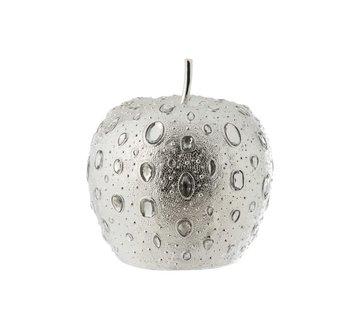 J -Line Decoration Apple Diamond Polyester Silver - Large