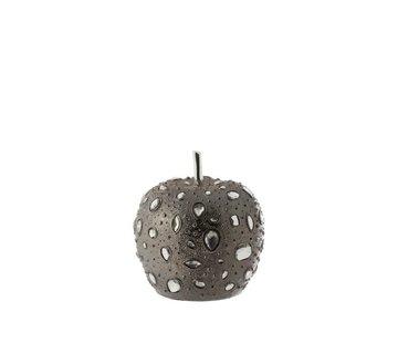 J -Line Decoration Apple Diamond Polyester Gray - Small
