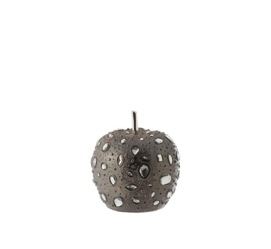 Decoratie Appel Diamant Polyester Grijs - Small
