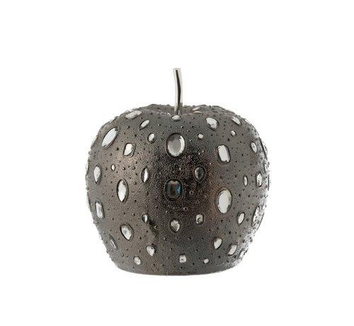 J -Line Decoration Apple Diamond Polyester Gray - Large