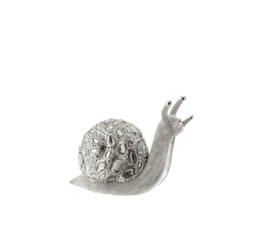 Decoratie Slak Luxueus Diamant Polyester - Zilver