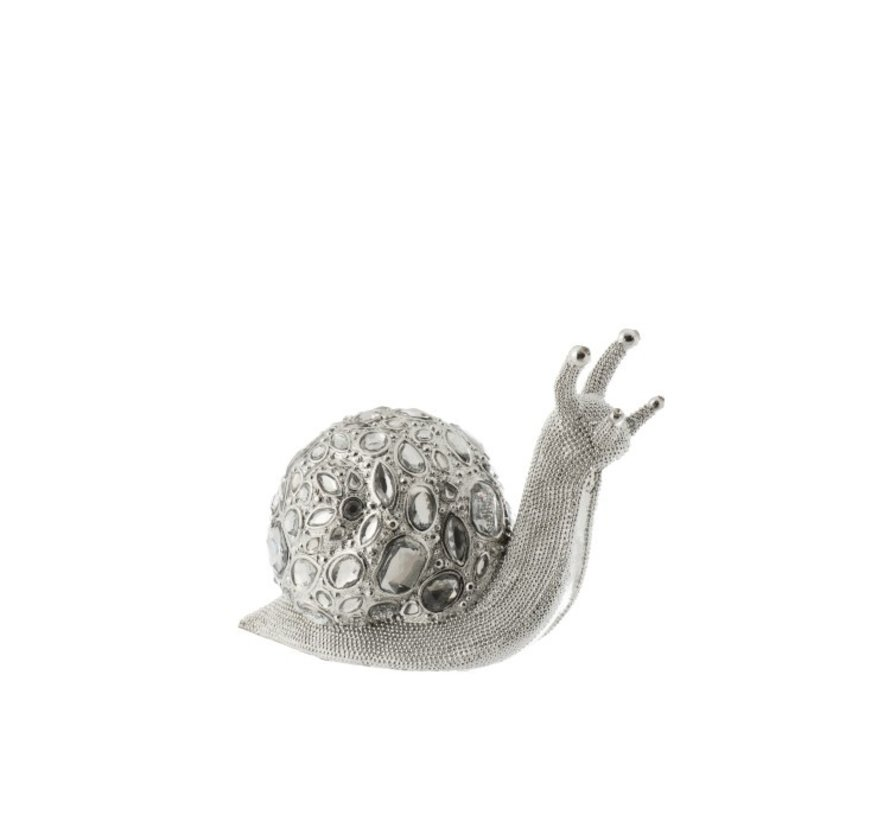Decoration Snail Luxurious Diamond Polyester - Silver